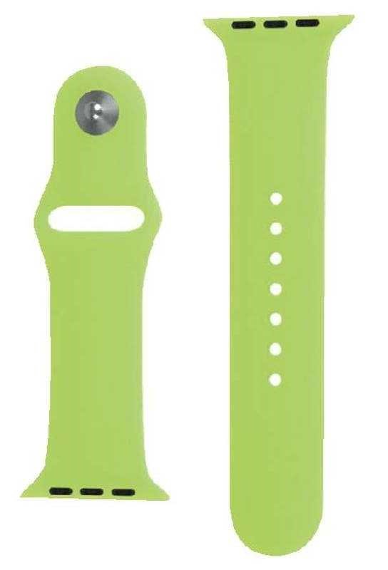 (10 Pack) Laser 42mm Leather Apple Watch Bands, Green