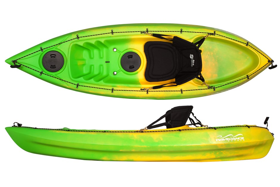 The Sierra 2.7m Kayak Including Seat And Paddle - Line/Yellow By Wavedance