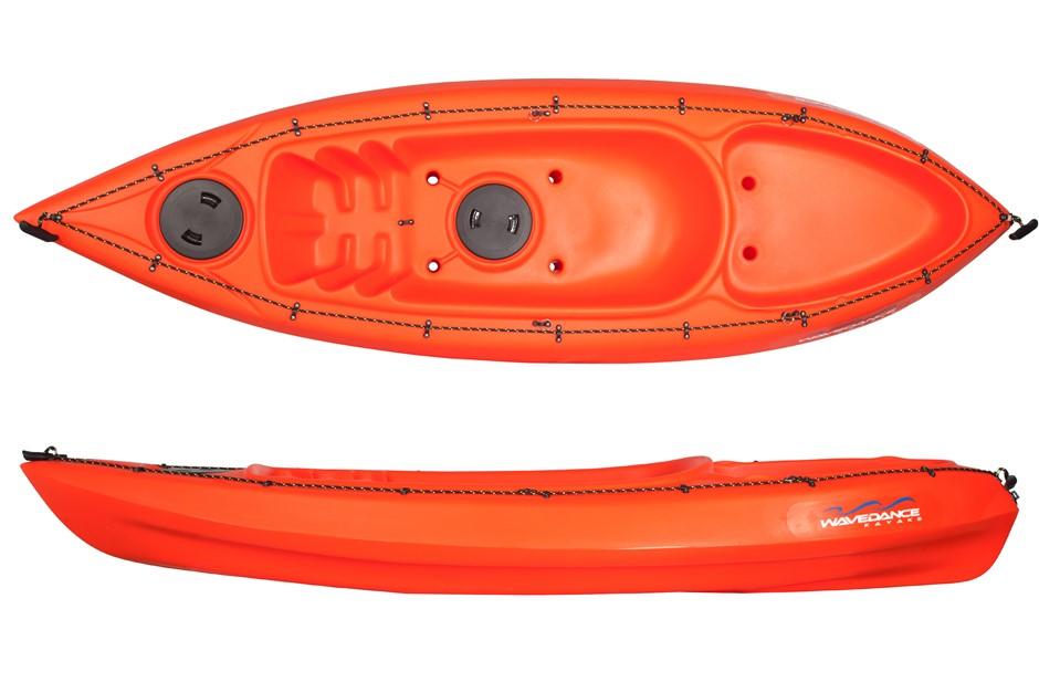 The Sierra 2.7m Kayak Including Seat And Paddle - Orange. By Wavedance Kaya
