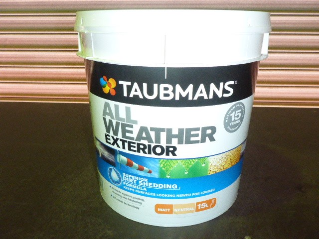Taubmans 15L All Weather Exterior Matt Paint - Neutral