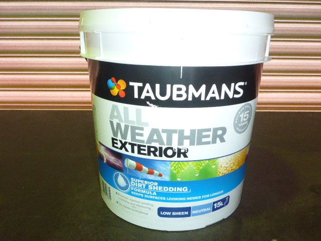 Taubmans 15L All Weather Exterior Low Sheen Paint - Neutral