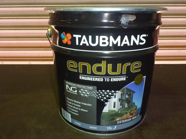Taubmans 15L Endure Exterior Gloss Paint - White
