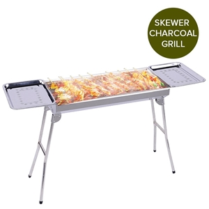 SOGA Skewers Grill w/Side Tray Portable