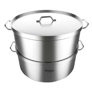 SOGA Food Steamer 35cm Commercial 304 To