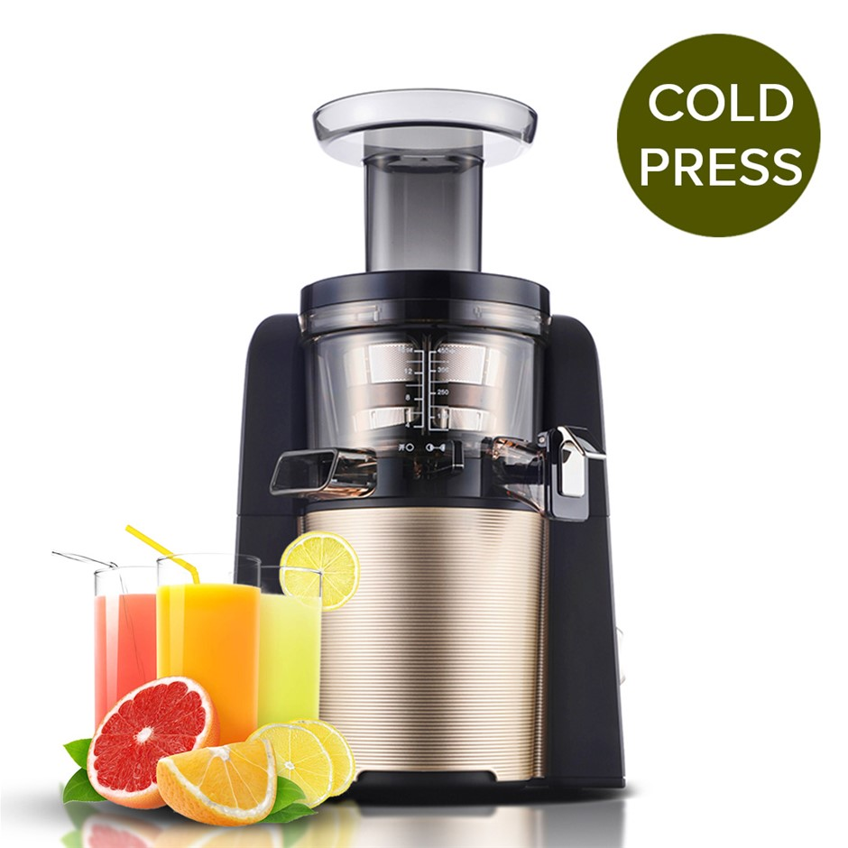 SOGA Cold Press Slow Juicer Fruit Vegetable Mixer Extractor Processor Gold