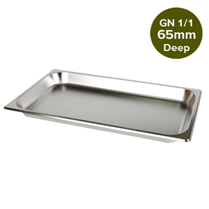 SOGA Gastronorm GN Pan Full Size 1/1 65m