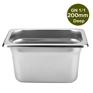 SOGA Gastronorm GN Pan Full Size 1/1 200