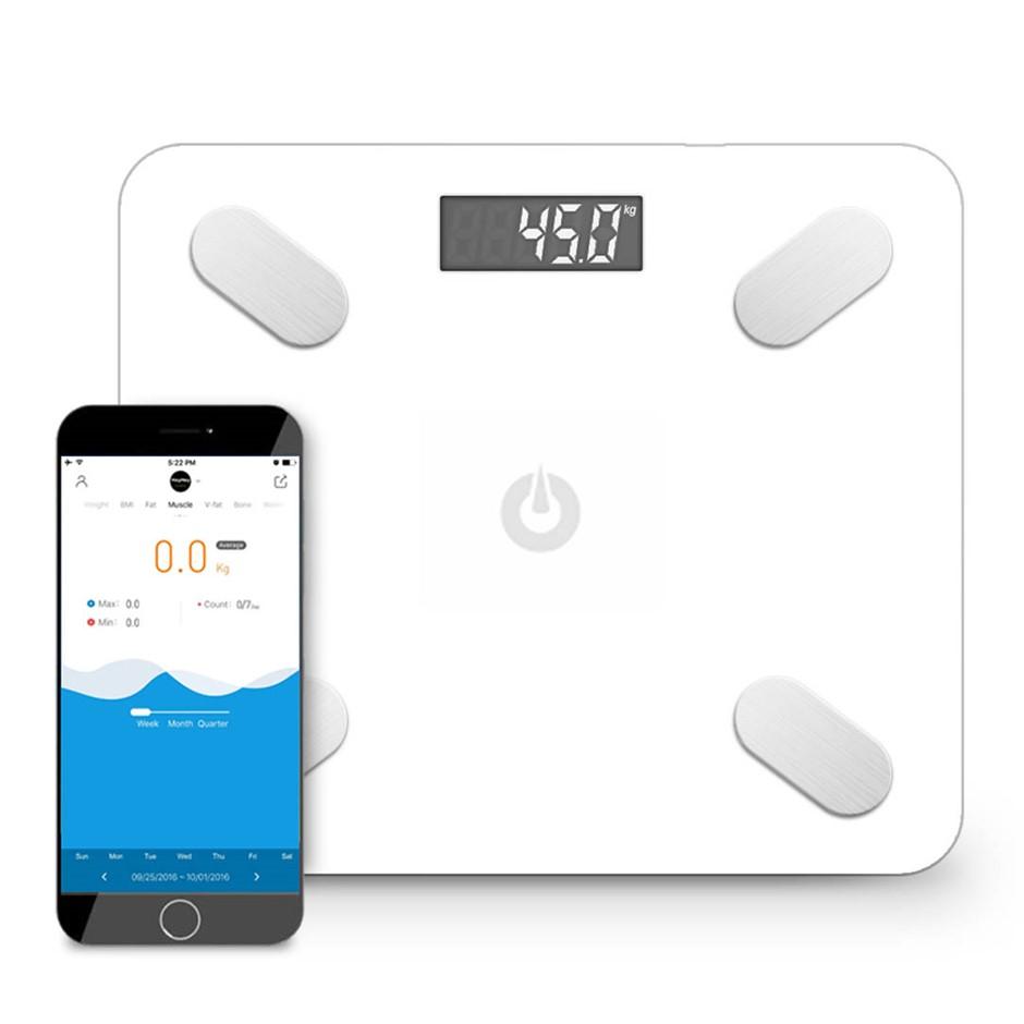 SOGA Wireless Bluetooth Digital Body Fat Scale Health Analyzer Weight White