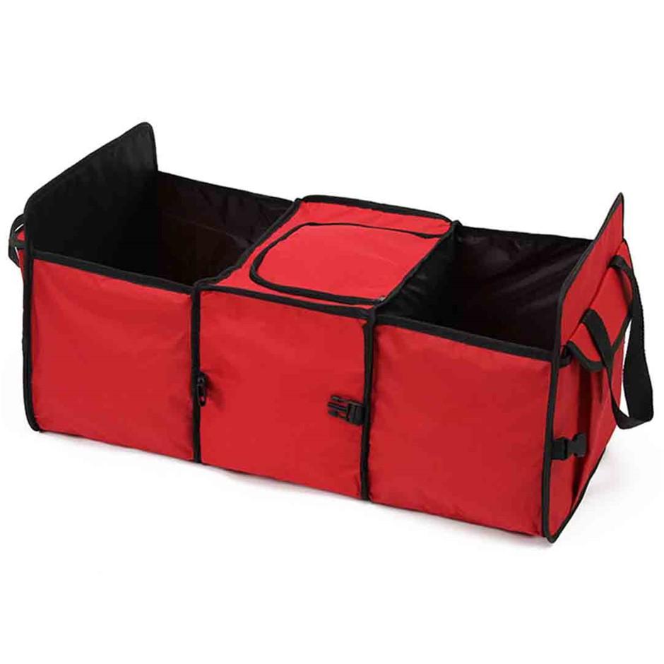 Car Portable Storage Box Waterproof Oxford Cloth Organizer Red