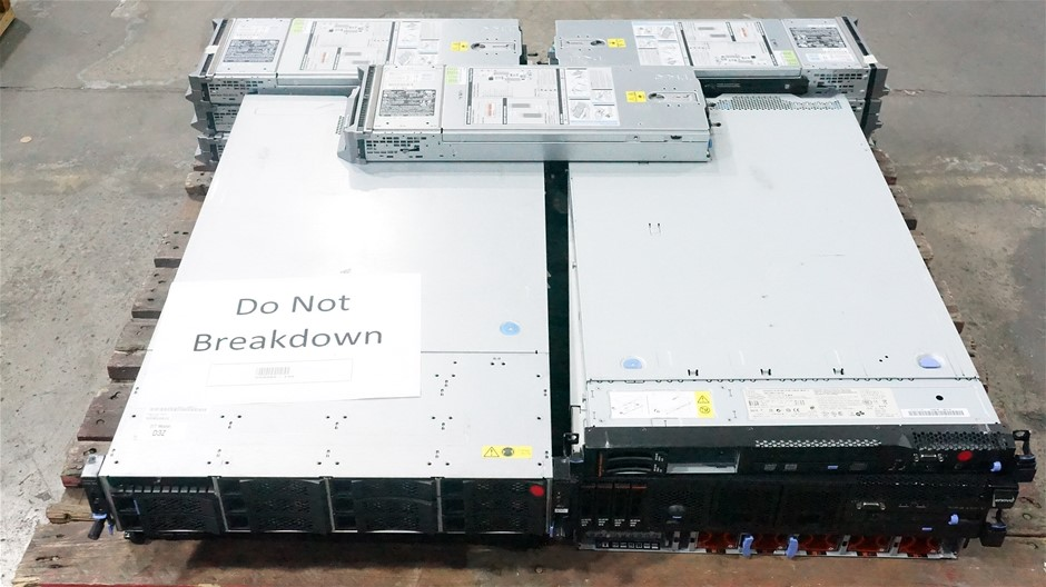 Pallet of Assorted IBM Servers and Dell Server Blades