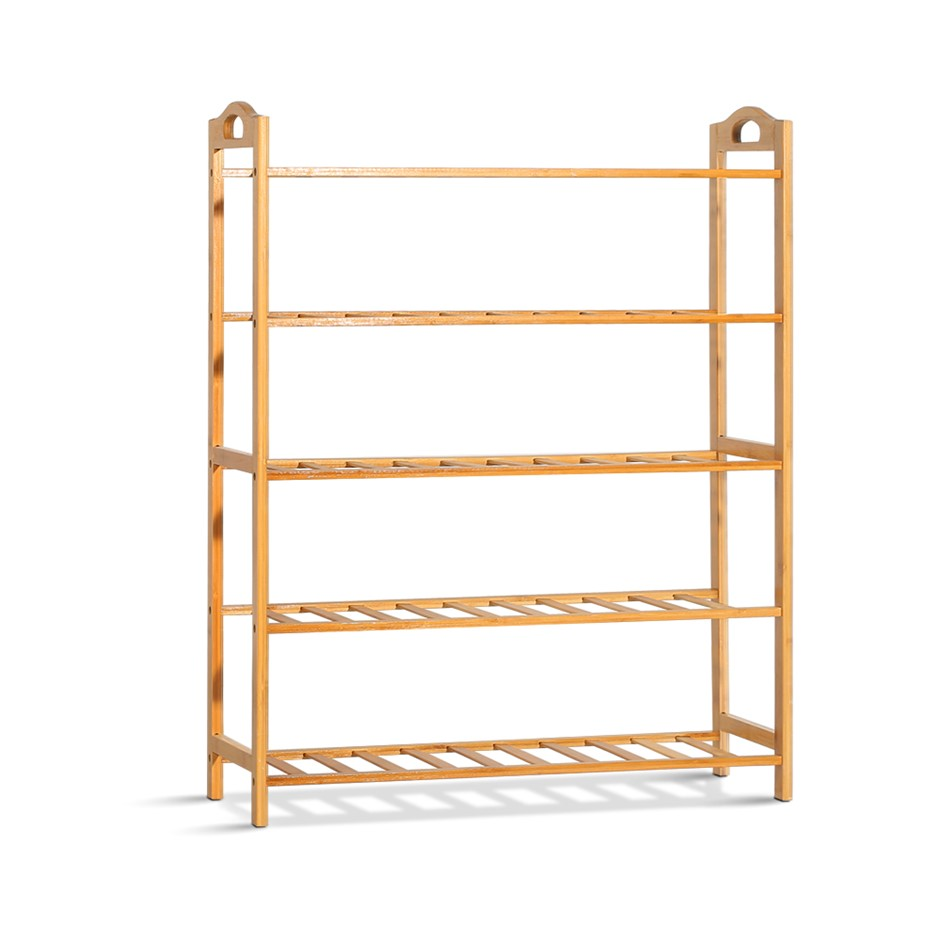 Artiss 5-Tier Bamboo Shoe Rack Organiser Cabinet Shelf Stand Shelves