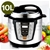 SOGA Electric Stainless Steel Pressure Cooker 10L 1000W Multicooker 16
