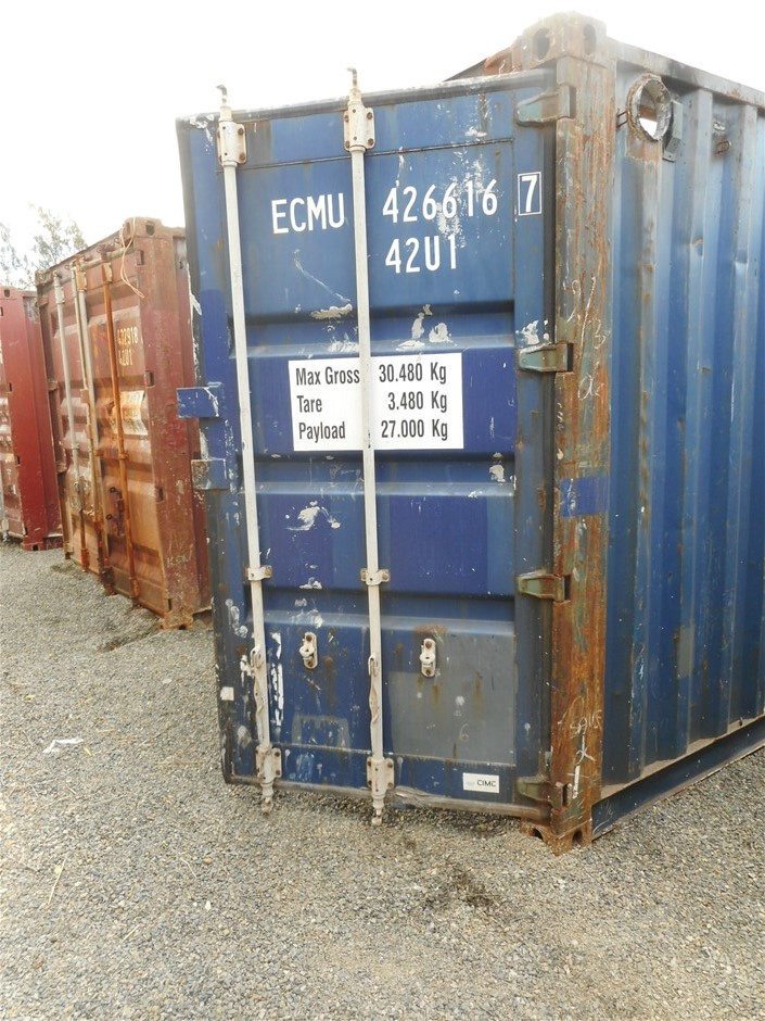 40 Foot Open Top Container Auction (0002-5037810 ...
