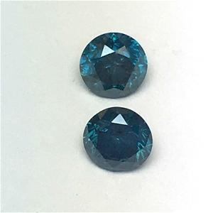 Two Stones Blue Diamond Round 0.19ct
