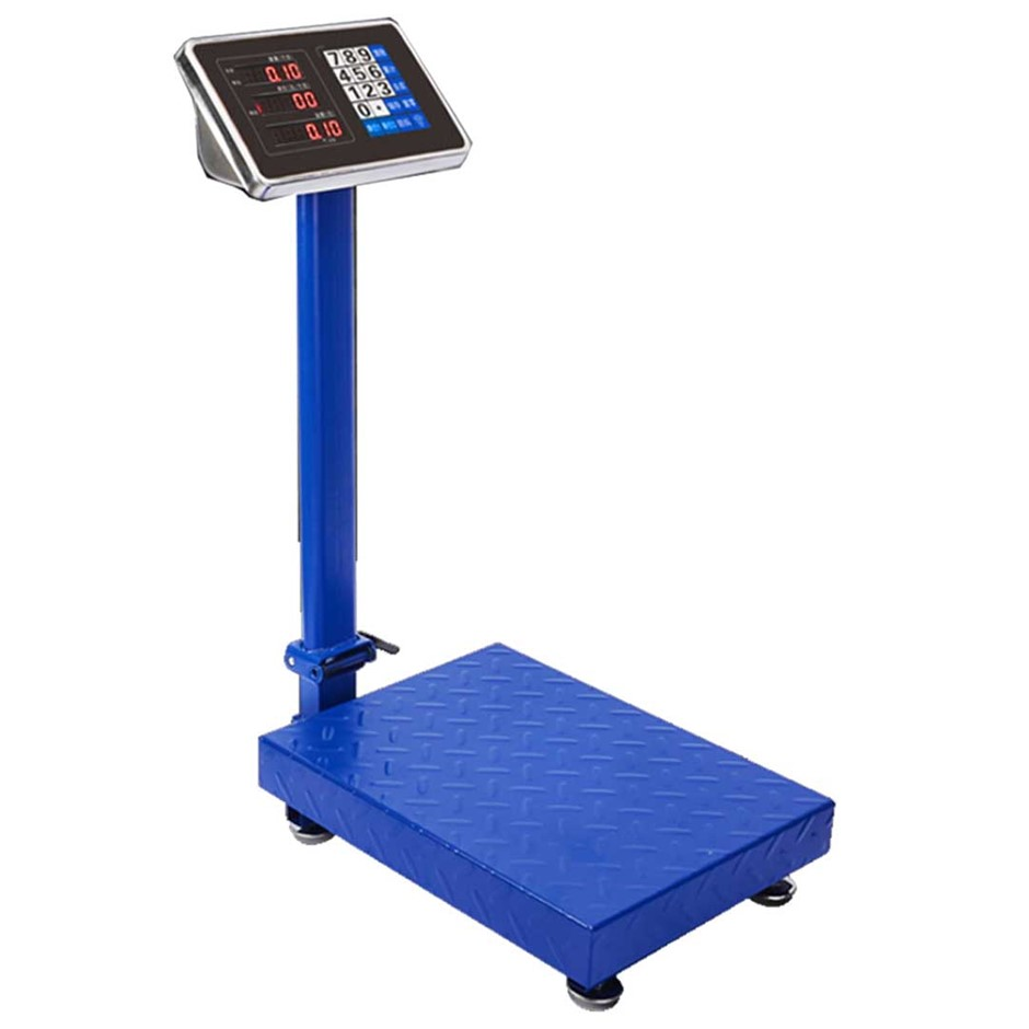 150kg Electronic Digital Platform Scale Postal Scales Weight Blue