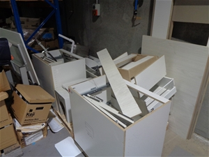 Quantity of Assorted Laminated Cabinets