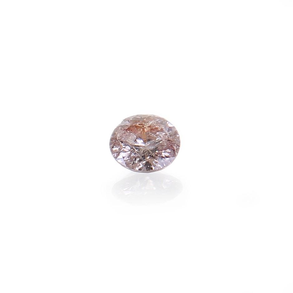 0.05ct Light pink natural diamond