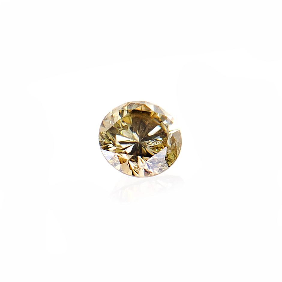 0.09ct light yellow green natural diamond