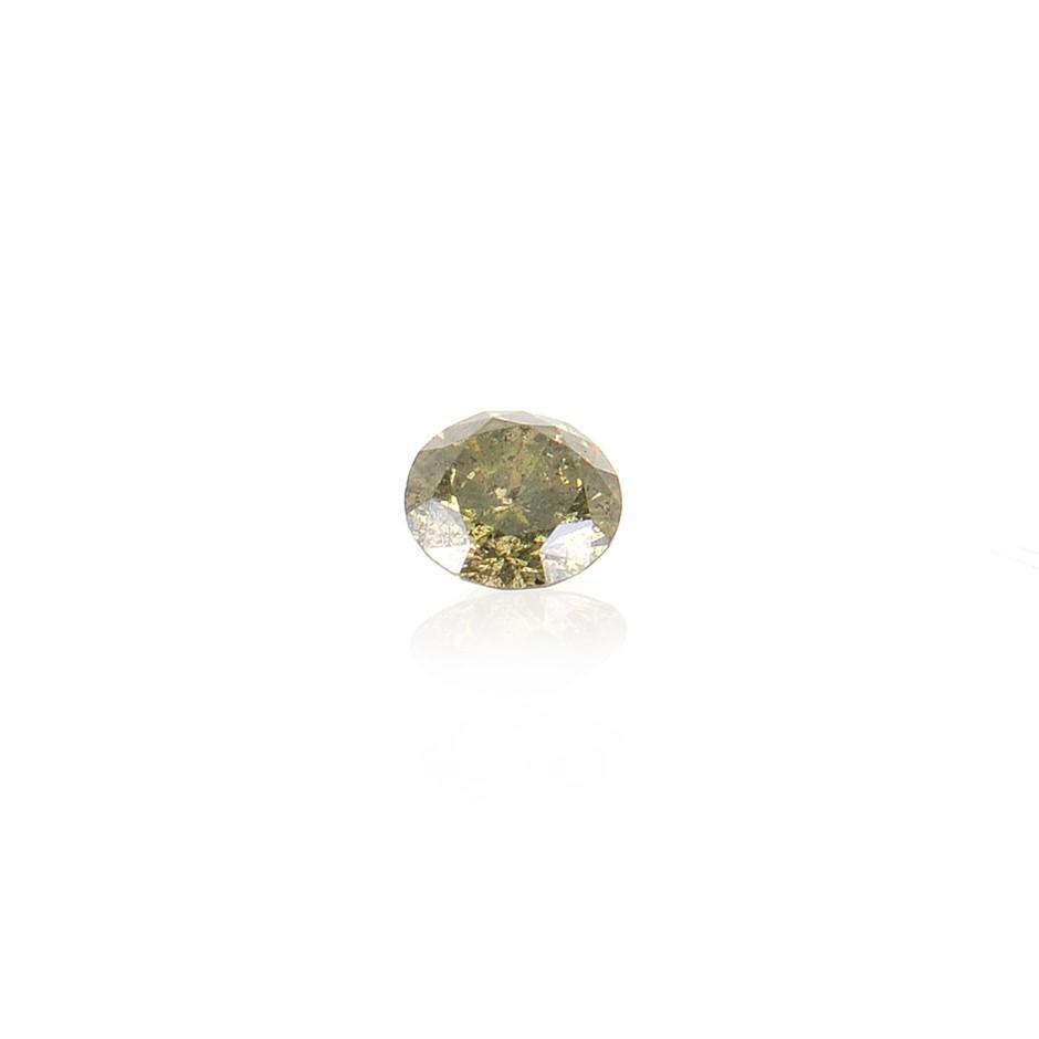 0.13ct Olive natural diamond