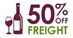 Freight 50% Off Wine