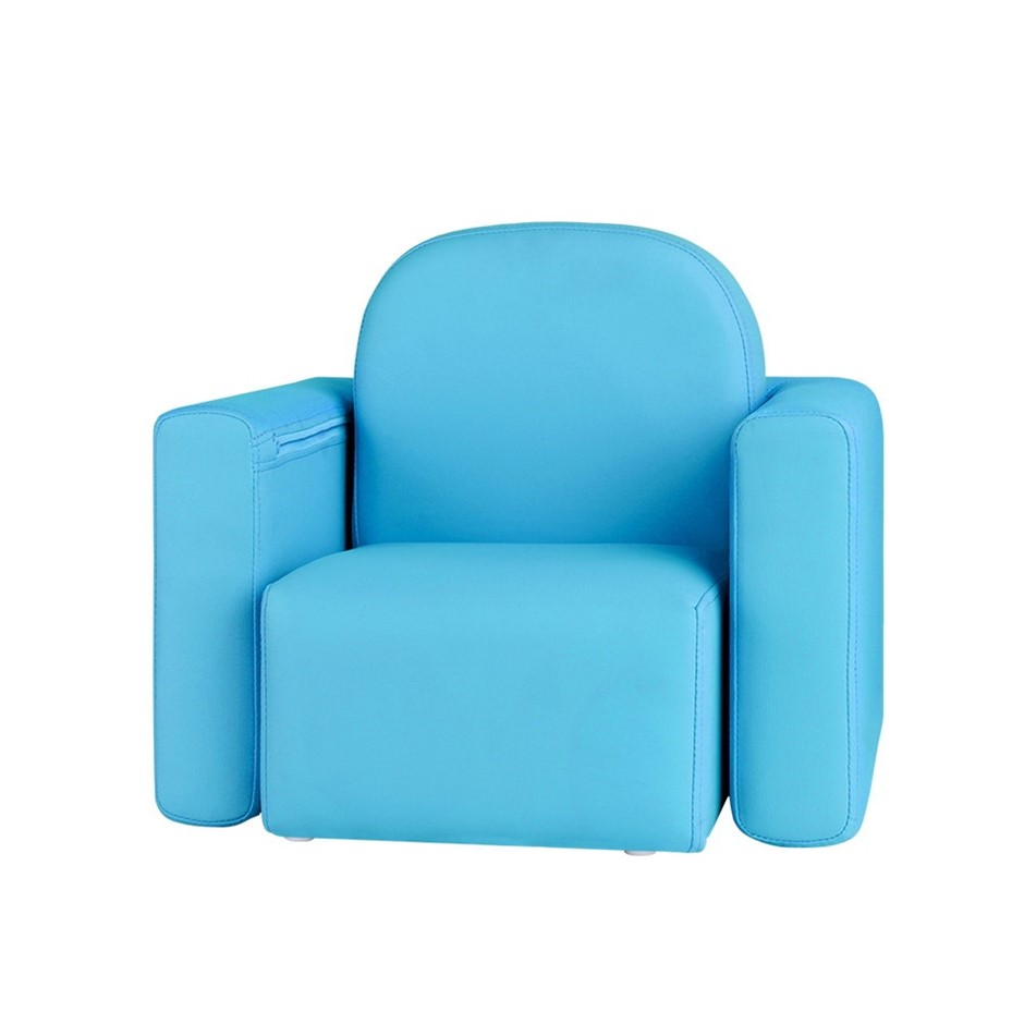 Artiss Kids Chair Sofa Recliner Table Desk Armchair Leather Couch BLUE
