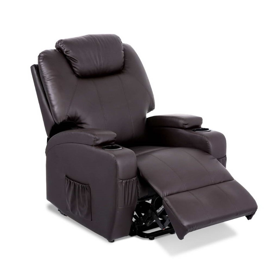 Artiss Recliner Massage Chair Electric Lift Heated Lounge Leather