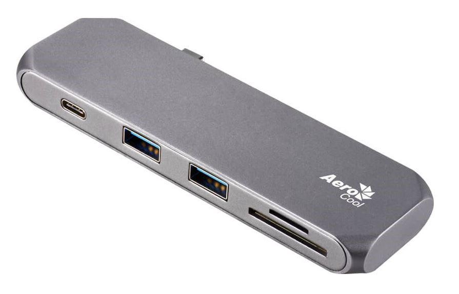 AeroCool Slimline Aluminum USB Type-C Multifunction Hub with USB 3.0