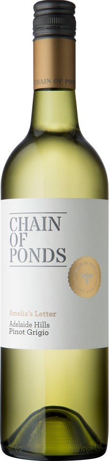 Chain of Ponds `Amelia's Letter` Pinot Grigio 2018 (12 x 750mL), ADL Hills.