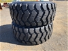 Qty of 2 x Unused 29.5R25 Radial Earthmoving Tyres