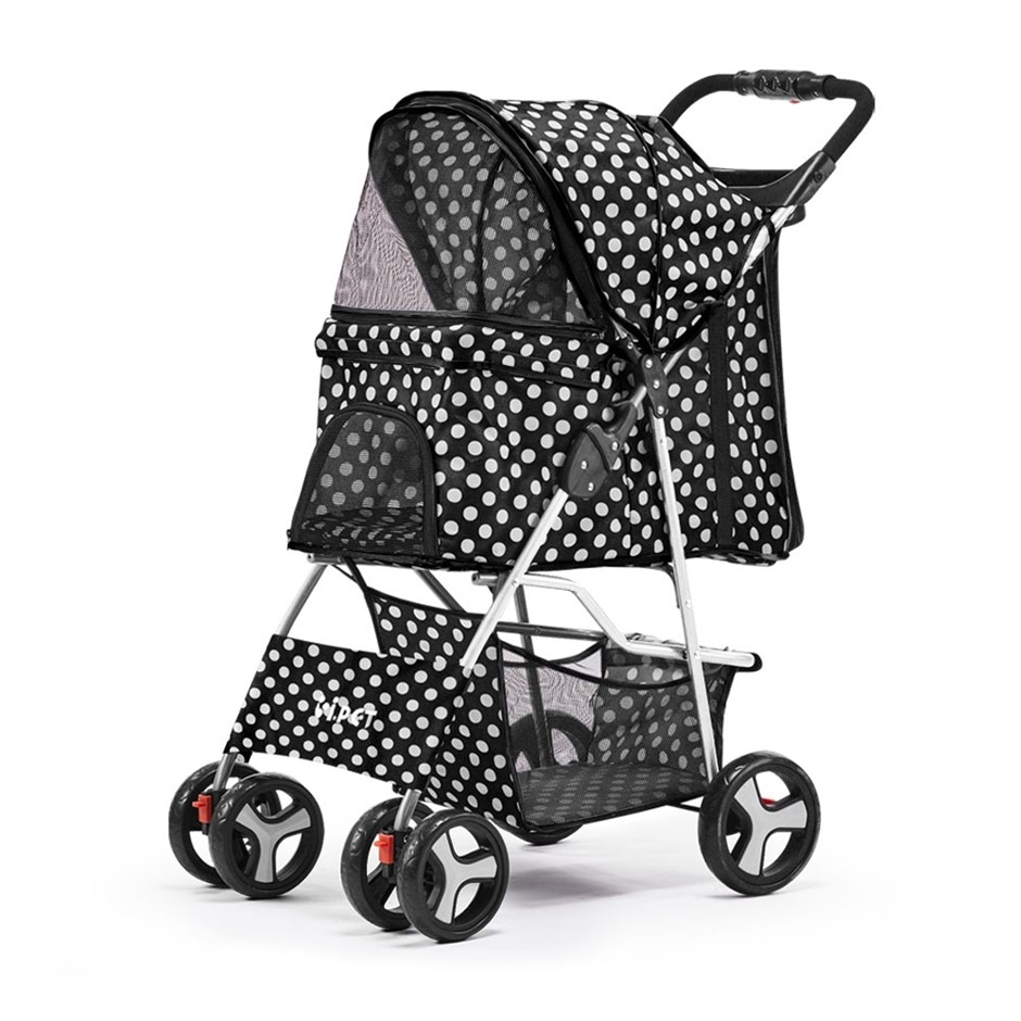 i.Pet Pet Stroller Dog Cat Cage Carrier Pushchair Foldable Pram 4 Wheels