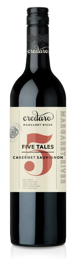 Credaro Five Tales Cabernet Sauvignon 2017 (12 x 750mL), Margaret River.