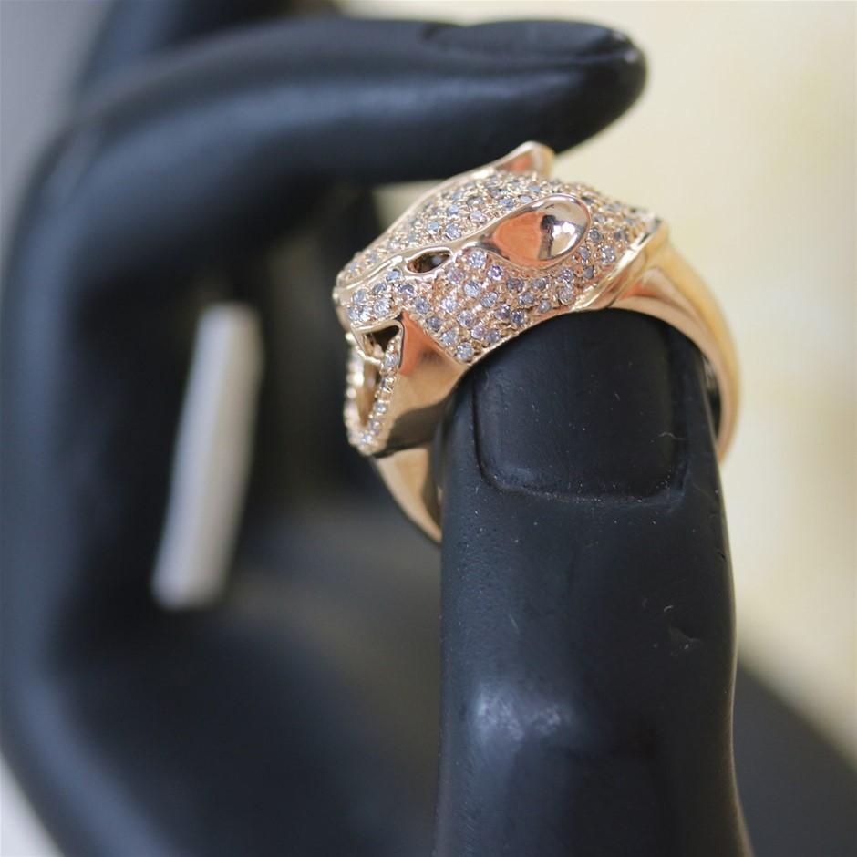 14ct yellow Gold, 0.50ct Diamond Ring