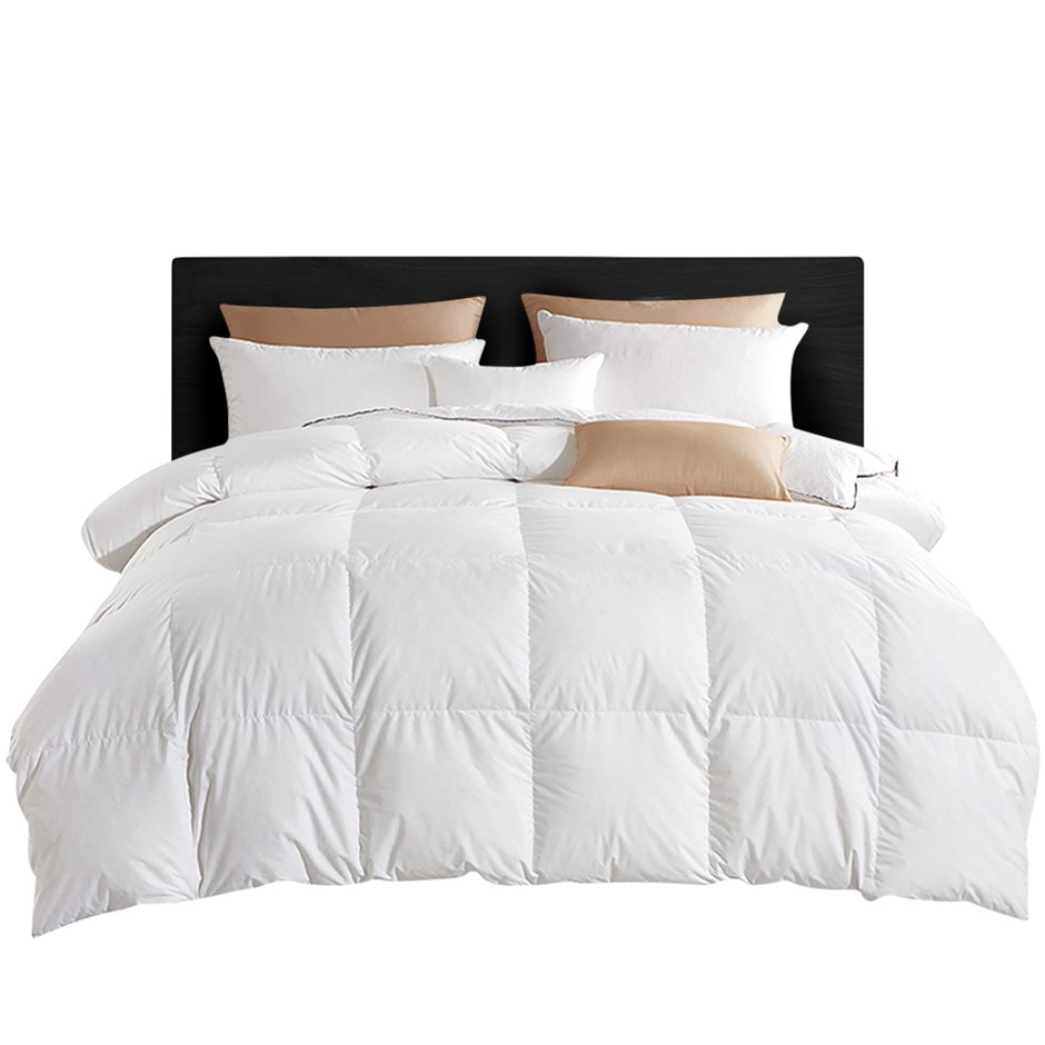 Giselle Bedding 800GSM Goose Down Feather Winter Quilt Cover Doona Queen