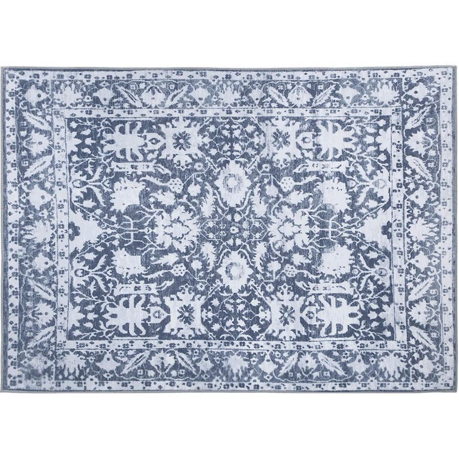 Artiss Short Pile Floor Rug 200x290 Area Large Vintage Carpet Soft Blue