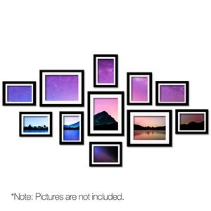 11 Piece Photo Frame Set - Black