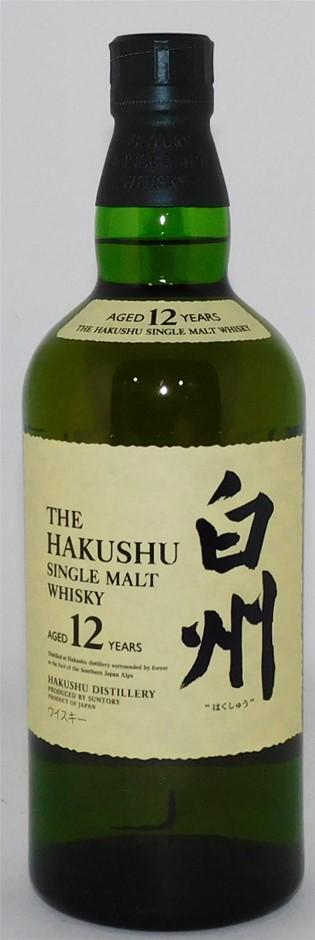 Suntory Hakushu 12 YO Single Malt Whisky (1 x 700mL) Japan