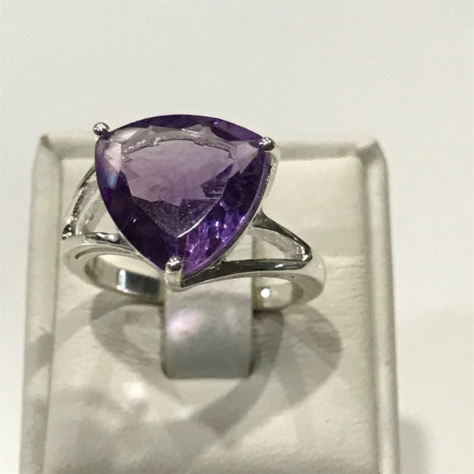 Stunning 6.00ct Brilliant Amethyst Ring Size M (6.50)