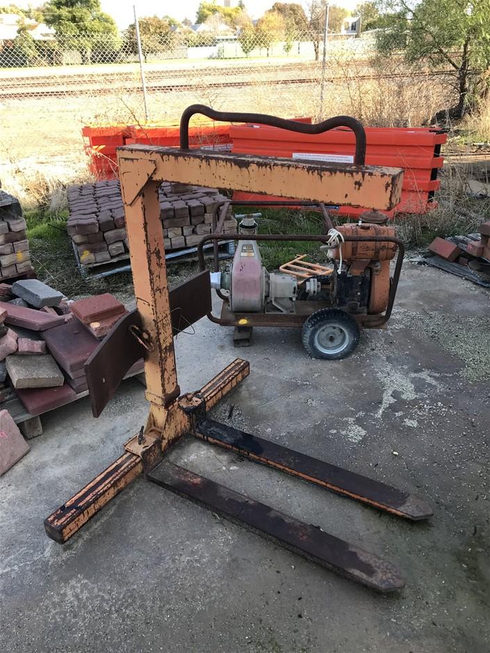 Forklift Jib with Adjustable Tynes
