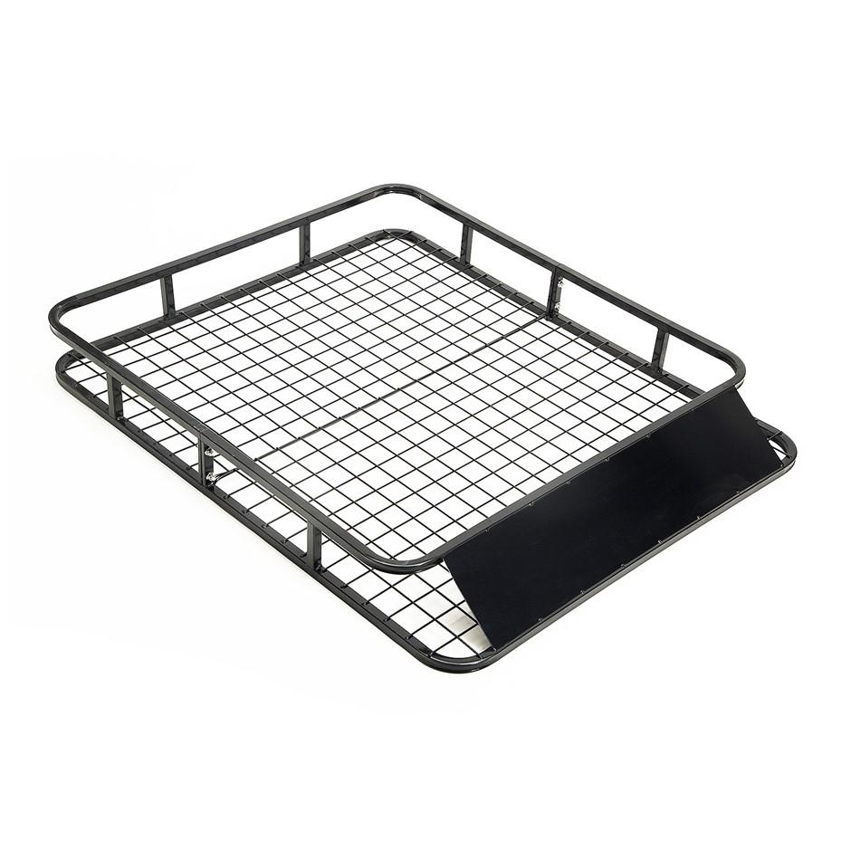 Steel Roof Luggage Carrier Basket 1230mm - BLACK
