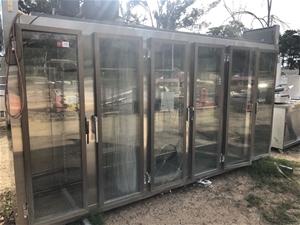 Unbranded 6 door stainless steel self co