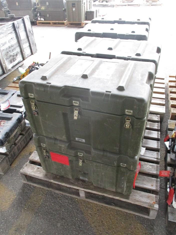 (Lot 740) 4 x Plastic Storage Boxes