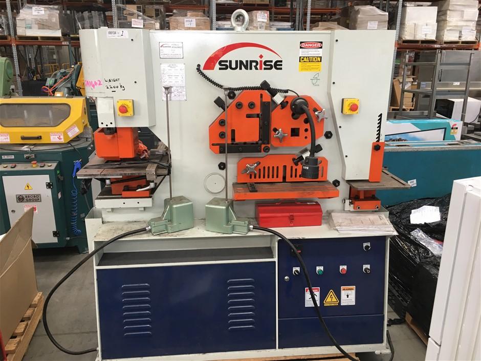 2018 Sunrise IW-80S,SD 80 Ton Hydraulic Iron Worker