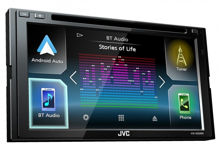 JVC KW-V930BW 2-DIN DVD/CD/USB Receiver with 6.8-inch Touch Control Monitor