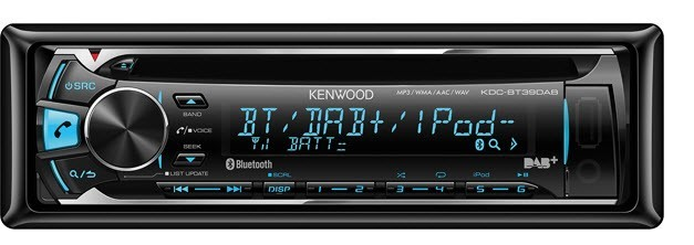 Kenwood KDC-BT39DAB CD In-Dash Receiver with USB interface