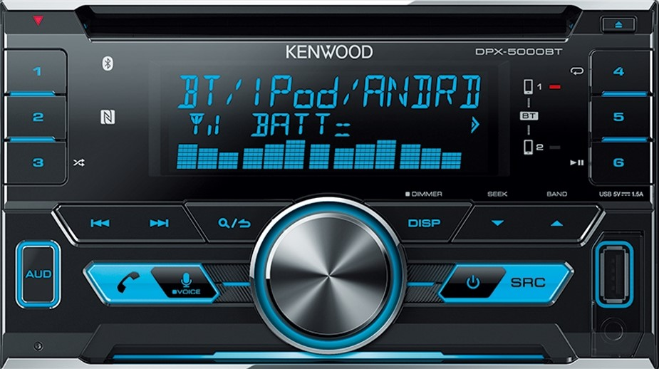 Kenwood DPX-5000BT Bluetooth Double DIN CD Player