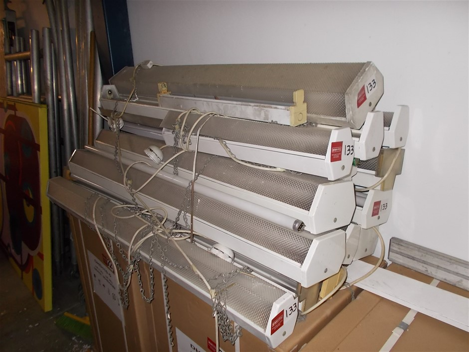 Quantity Single and Double Fluorescent Lights