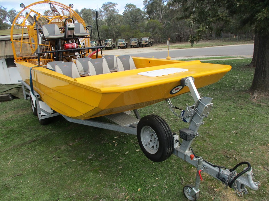 (Lot 2) Newcastle Class Airboat, with Tandem Boat Trailer 03/17