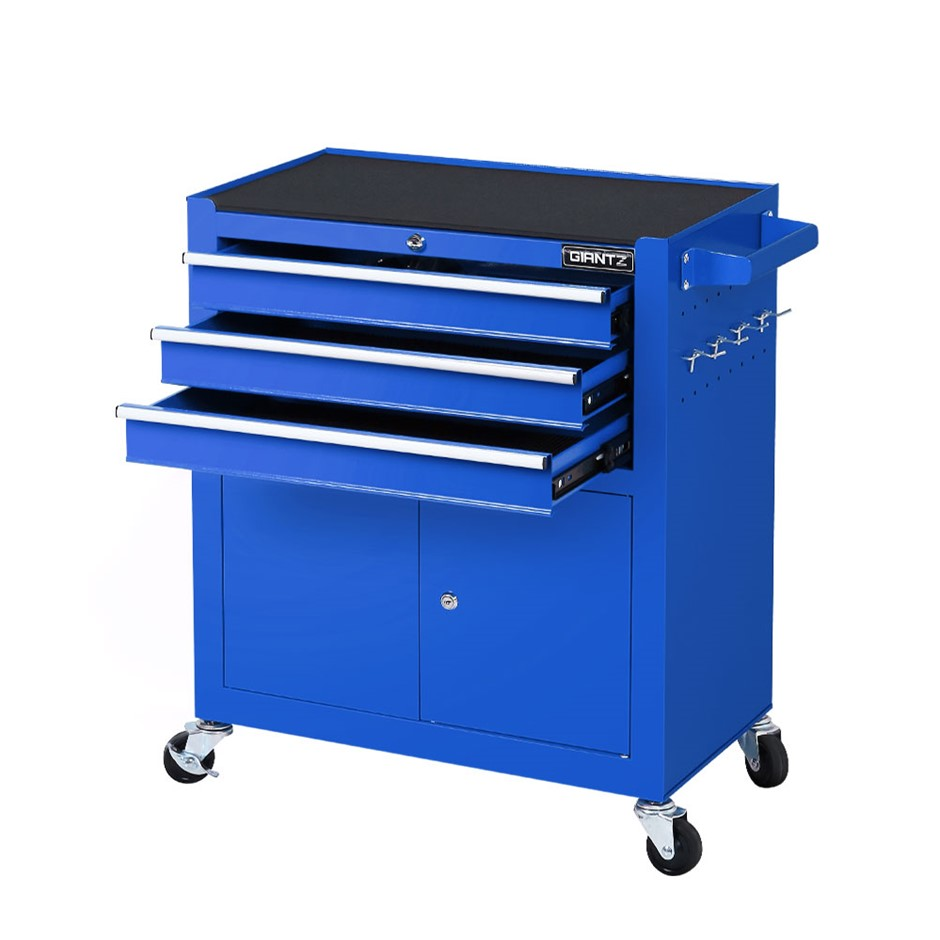 Giantz Tool Box Chest Trolley Cart Kit Cabinet Drawers Garage Toolbox Blue