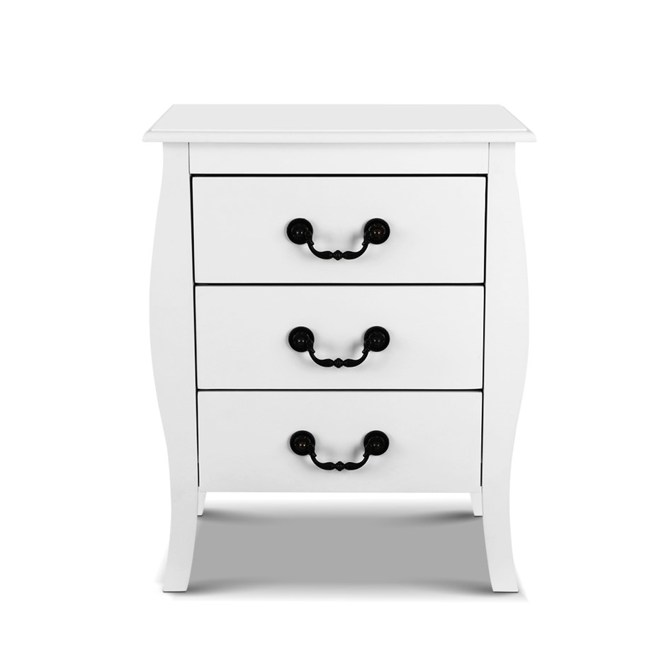 Artiss Bedside Tables 3 drawers Storage Nightstand Side Chest Cabinet Unit