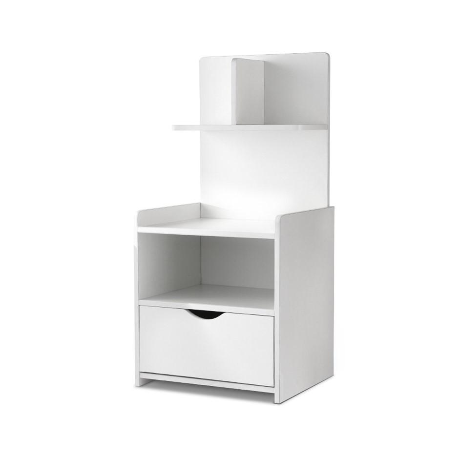 Artiss Bedside Table Cabinet Shelf Display Drawer Side Unit Storage